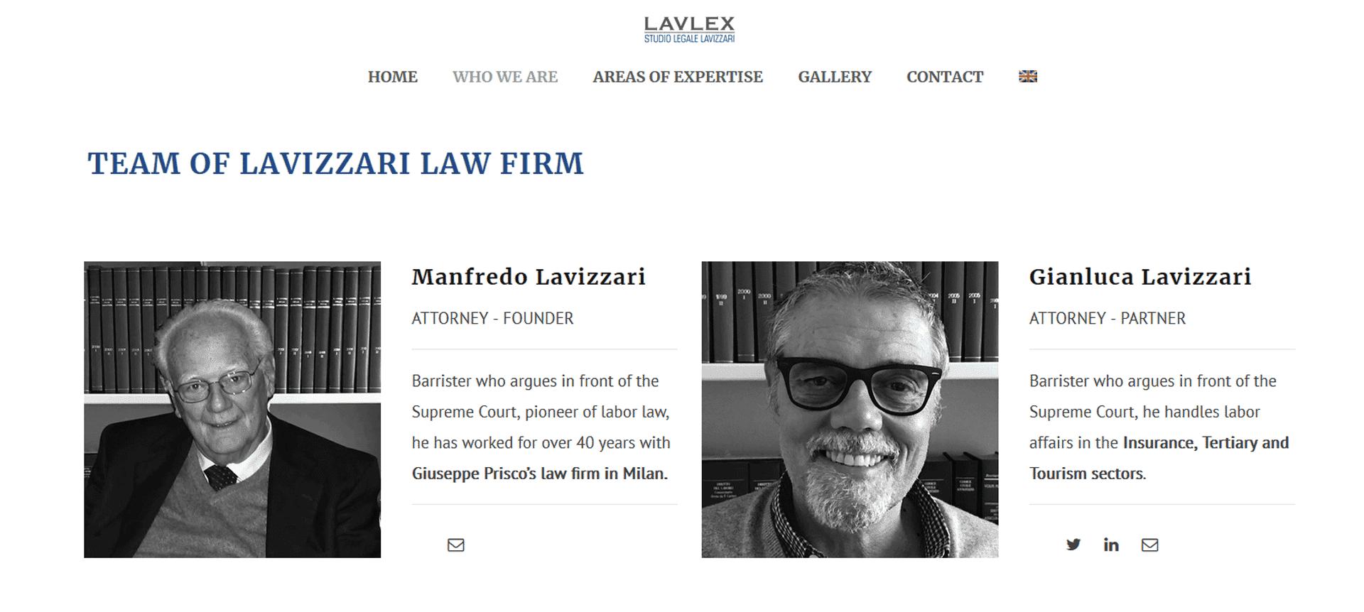 Lavlex Studio Legale Lavizzari Portfolio Digital Compass English